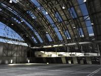 3d model hangar jets