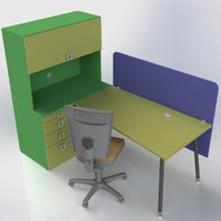 furniture office 3d model