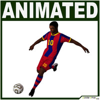 3d model team soccer player cg