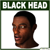 Low Poly Black Male Head