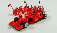 3d model f1 car lego 8142