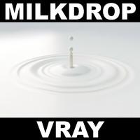 milk drop 3d model