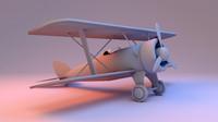 3d model toy plane