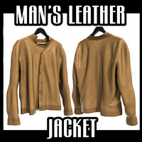 man s leather jacket 3d fbx