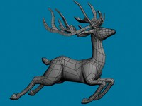 santa reindeer 3d max