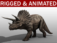 3d model triceratops animation