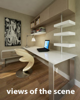 3d obj modern table room