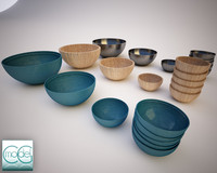 bowls serving 3d obj