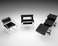 bauhaus marcel breuer chair 3d model