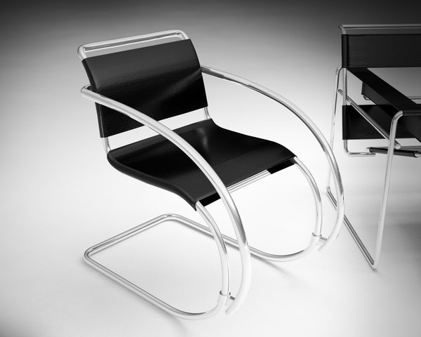 Bauhaus marcel breuer chair 3d model for Chaise wassily