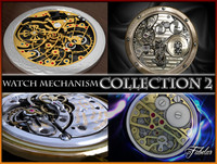 watch mechanisms 2 3d model
