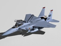3d f-15e strike eagle f-15 model