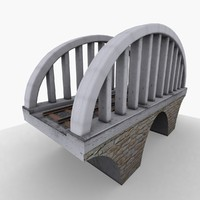 structure bridge concrete 3d model