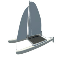 hobie catamaran sailboat 3ds