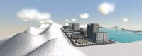 3d city racing model