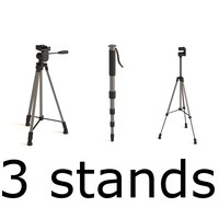 stands monopod tripods 3d model
