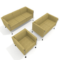 arflex felix armchair sofa 3d model