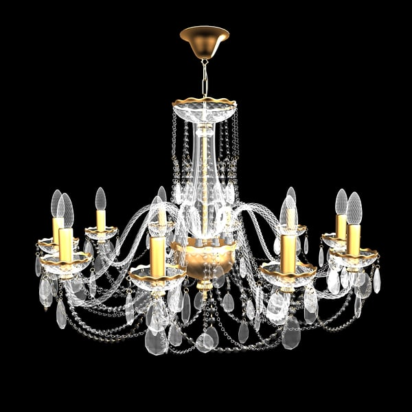 chandelier andrea small 3d 3ds - Chandelier Andrea Small... by T.Smith