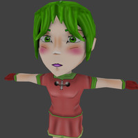 3d model character chibi girl