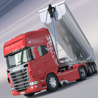 scania r730 v8 aluminium 3d max