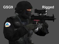 3dsax gsg9 police gun