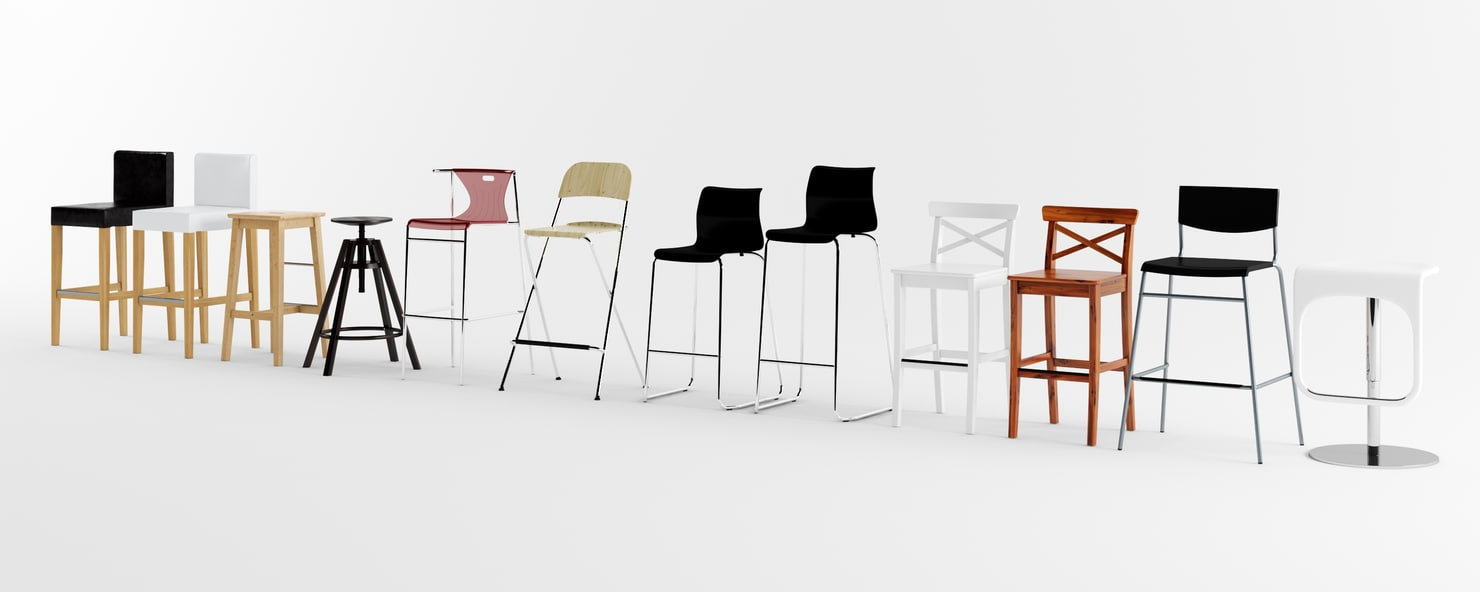 Ikea Bar Stool Pack 3d Model