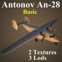 3d model of antonov basic aircraft