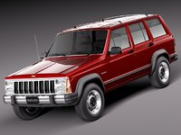 jeep cherokee 1984 1996 3d max