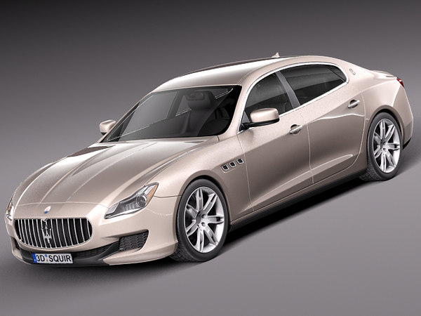 3d maserati quattroporte luxury sedan - Maserati Quattroporte 2013... by squir