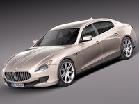 3d maserati quattroporte luxury sedan