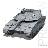 merkava iv tank 3d model