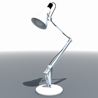 3d metal desk lamp light model