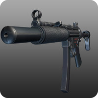 3d mp5 heckler koch model