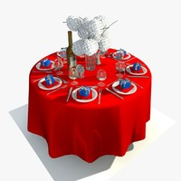 3ds max restaurant dining table sets