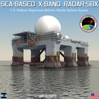 3d sbx-1 sea-based x-band radar