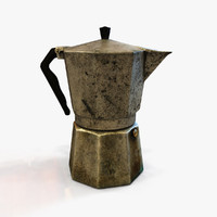 3d coffee pot