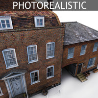 3d model photorealistic old european english
