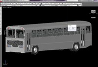 3d model bus interior