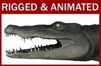 3ds crocodile animation rigged