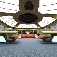 bridge uss enterprize 3d 3ds
