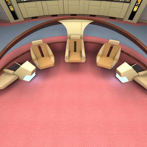 bridge uss enterprize 3d 3ds - USS Enter prise 1701-D Bridge... by 3D Resource
