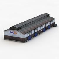 angar fedex 3d fbx