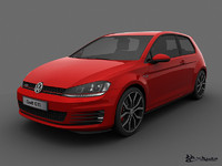 3d model of volkswagen golf gti 3