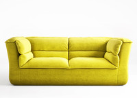 moroso coat sofa 3d model