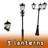 street lanterns 3d model