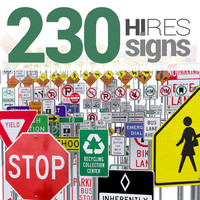 traffic signs 3d model
