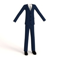 cartoon male suit