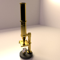 antique microscope 3d model
