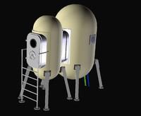 habitation module 3d model