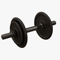 3d model dumbbell weight